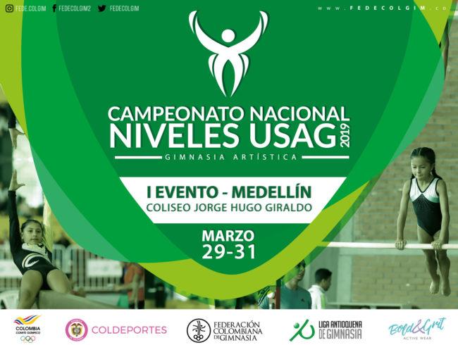 Medellín se prepara para recibir el primer Campeonato Nacional de Niveles USAG de Gimnasia Artística